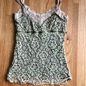 Olive/Cream Lace Camisole